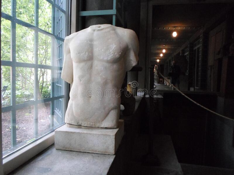 Male nude statues, Isabella Stewart Gardner Museum, Boston, Massachusetts, USA. Male nude statues at the Isabella Stewart Gardner Museum, an art museum in Boston royalty free stock images