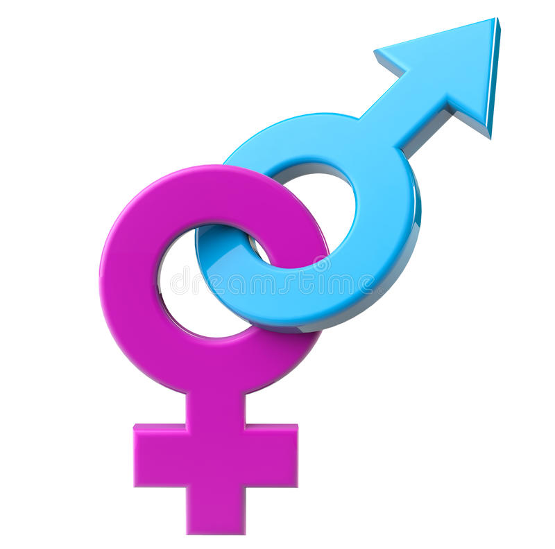 Male och kvinnlig sexsymbol stock illustrationer
