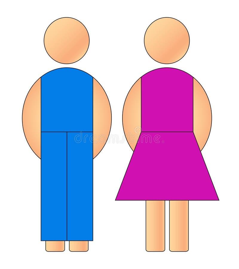Male och kvinnligtecken arkivbild