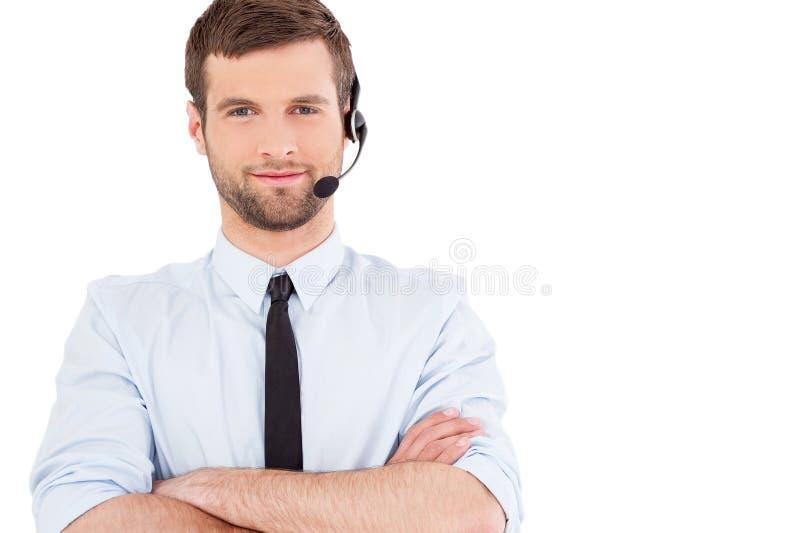 Male operator. stock photo