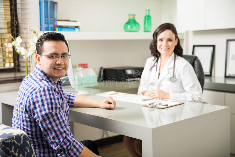 Download Male Patient In A Doctor`s Office Stock Photo - Image: 83708408