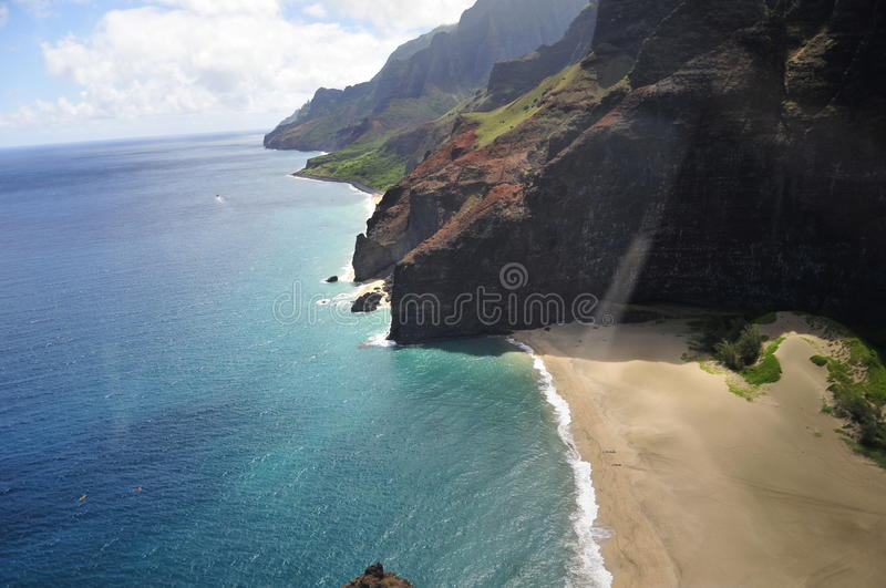 Aerial View of Kauai stock images