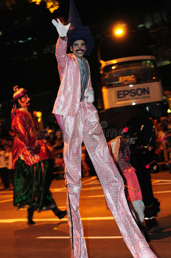 Download Male performer on stilts editorial image. Image of expression - 4331370