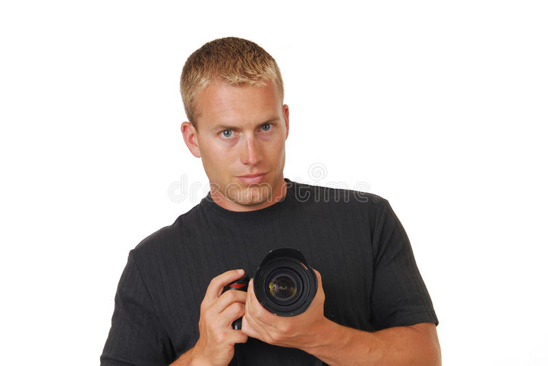 Male photographer royalty free stock photography