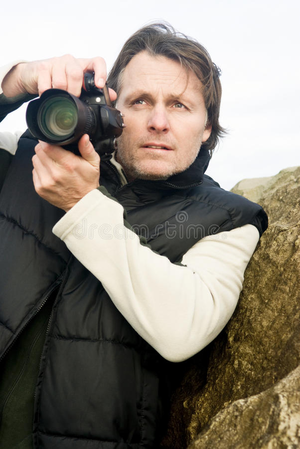 Male Photographer Royalty Free Stock Photos