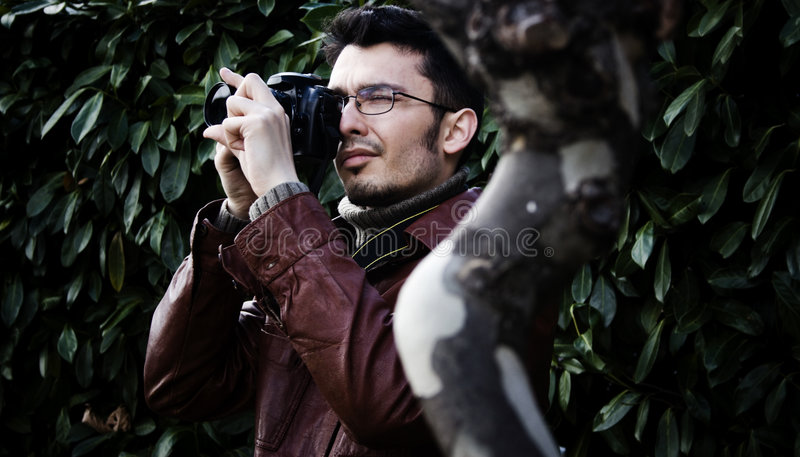 Male Photographer stock photography