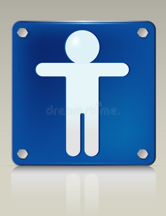 Download Male Placard stock vector. Image of symbol, button, human - 6967889