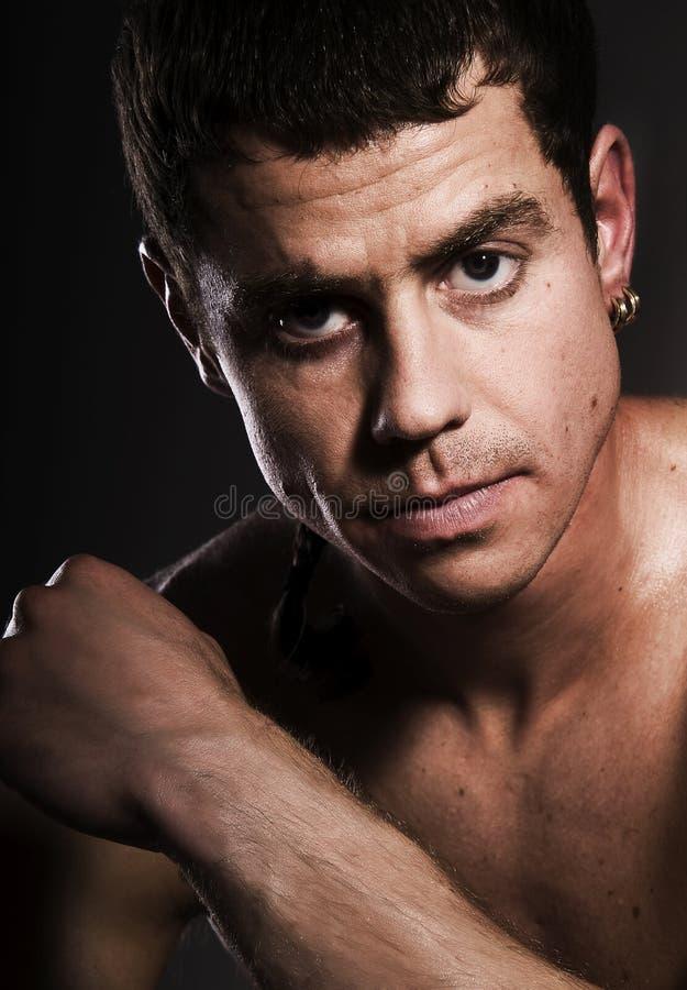 Download The male portrait. stock photo. Image of sunburn, model - 10072910