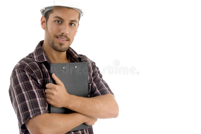 Download Male Posing With Writing Pad Stock Photo - Image: 6986164