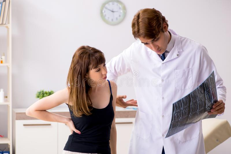 The male radiologist detecting cause of the illness. Male radiologist detecting cause of the illness stock photography