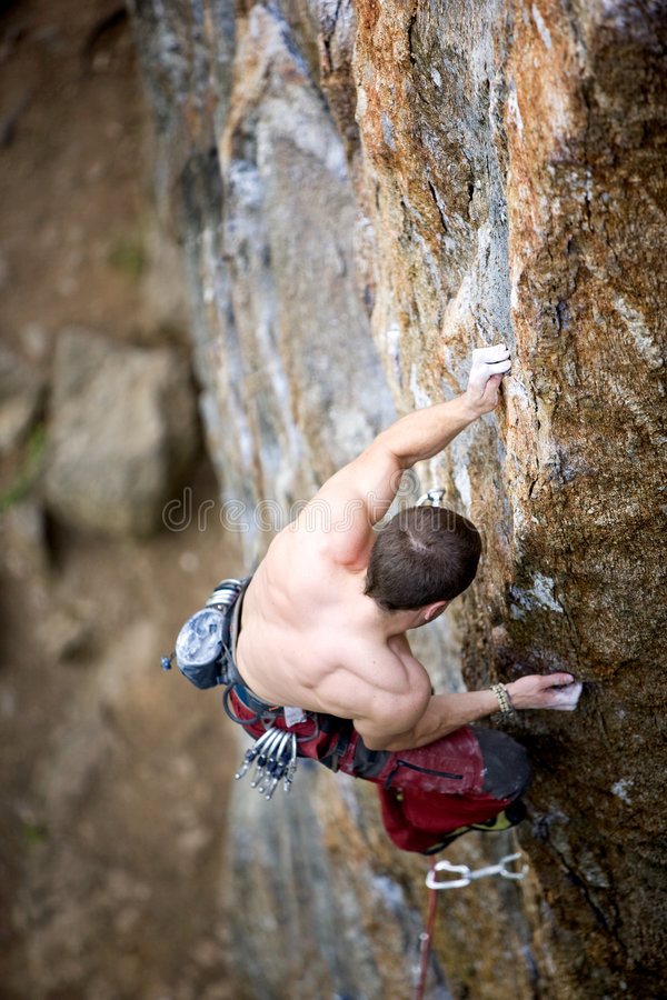 Male Rock Climber stock image