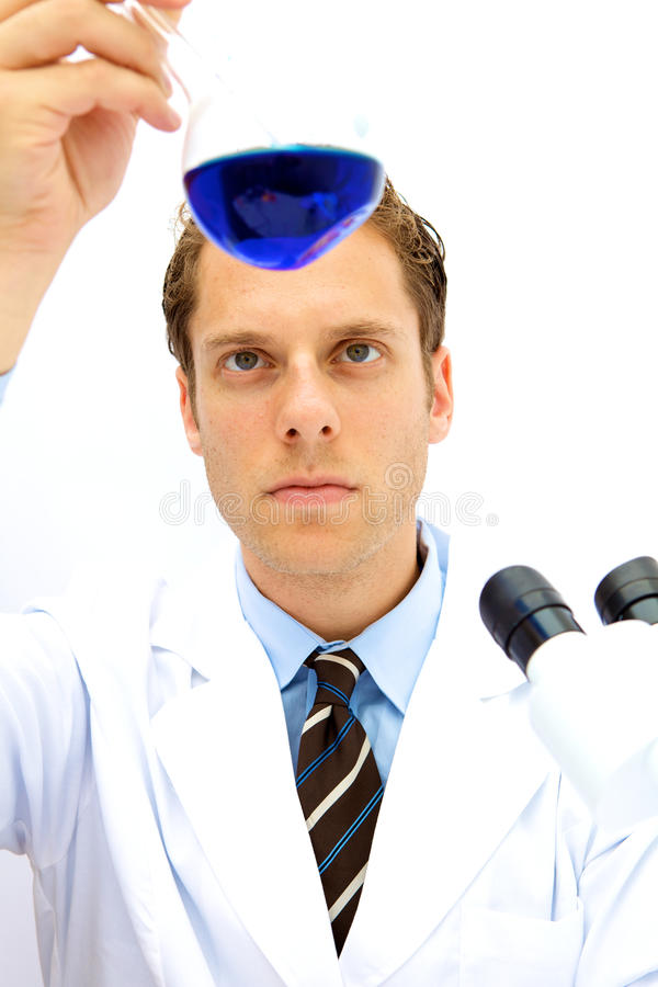 Male Scientist Working In A Lab Stock Image