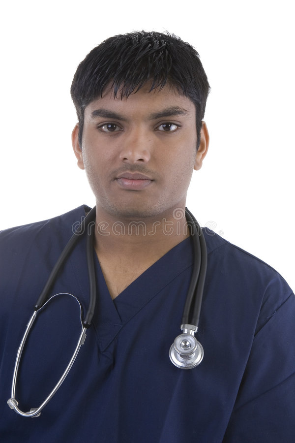 Male in Scrubs stock photo