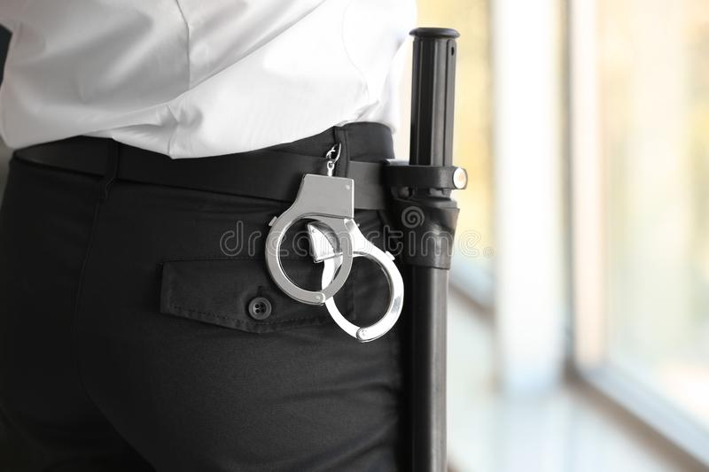 Male security guard indoors royalty free stock photos