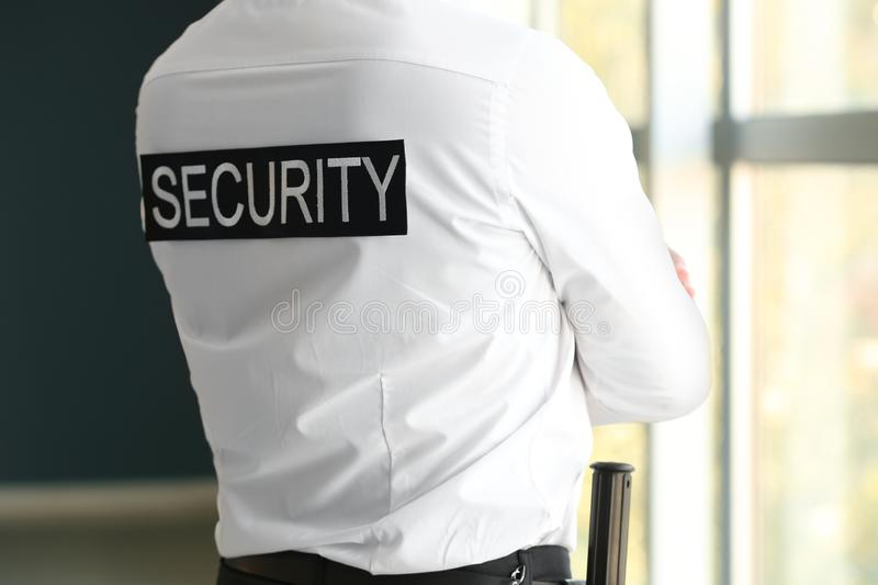 Male security guard indoors royalty free stock images