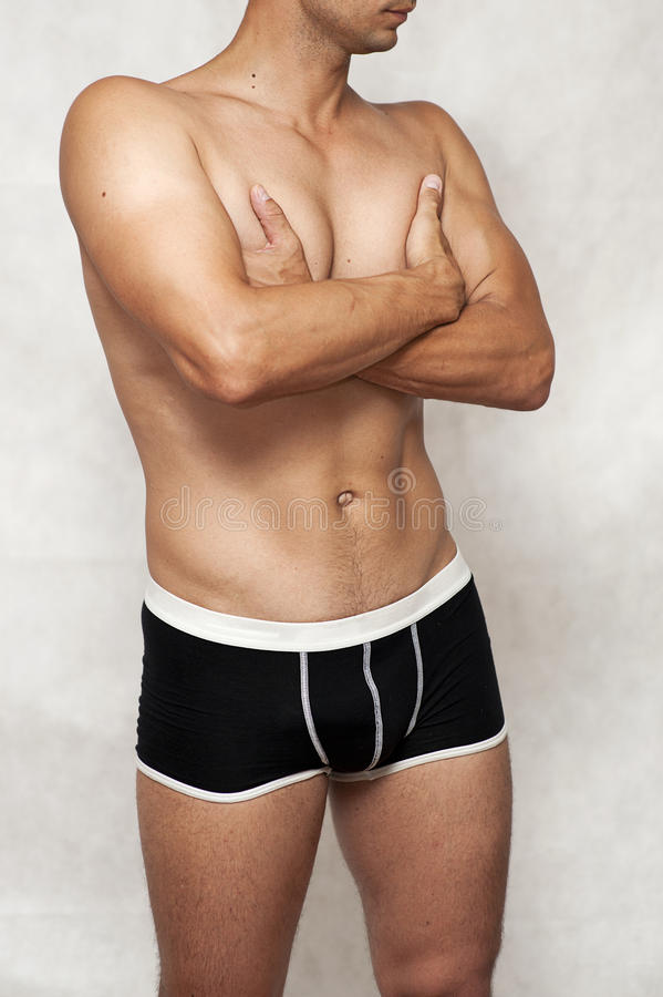 Male underwear model stock photos