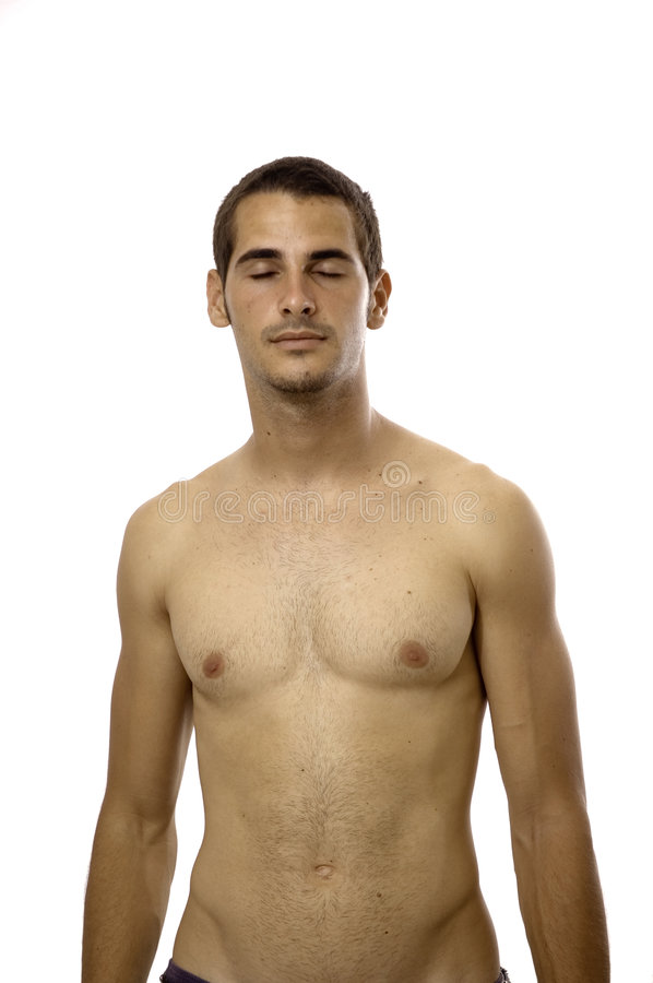 male shirtless barn arkivfoto