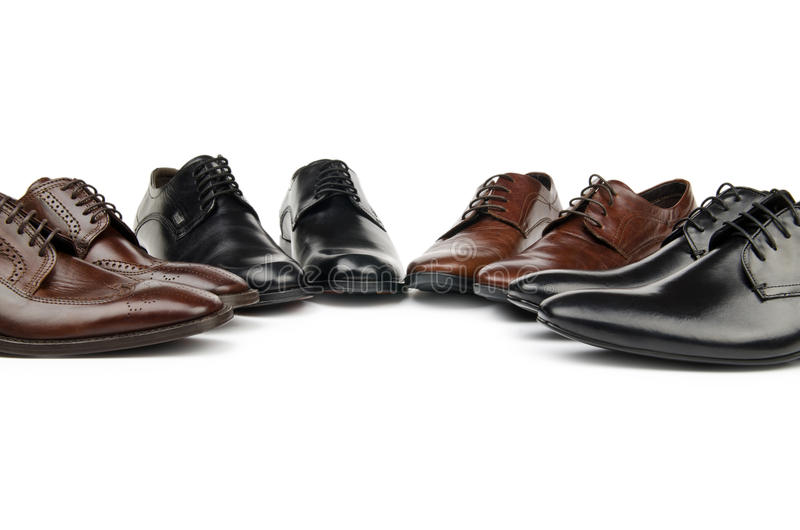 Male shoes in fashion concept stock photography