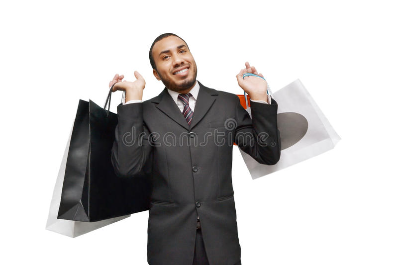 male shopping royalty free stock image