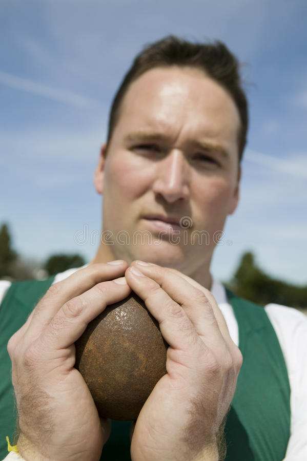 Male Shot Putter royalty free stock photo