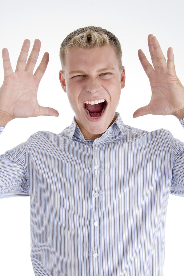 male shouting young στοκ φωτογραφίες με δικαίωμα ελεύθερης χρήσης