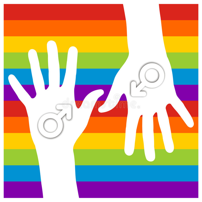 Male sign in hands stock images
