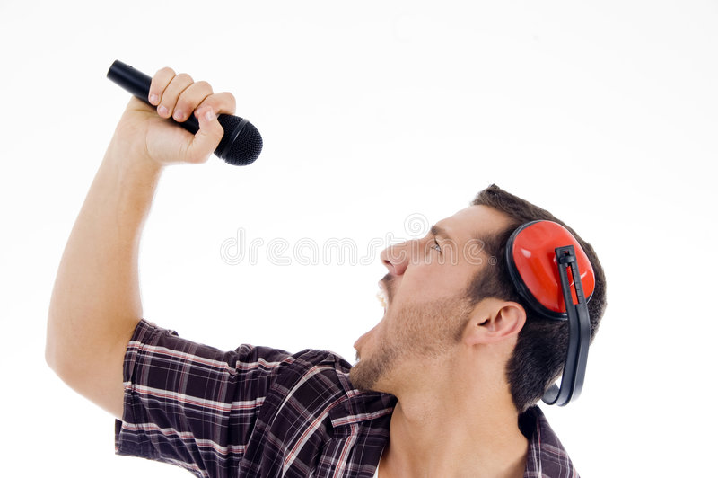 Download Male Singing Loudly On Microphone Royalty Free Stock Photography - Image: 7361657