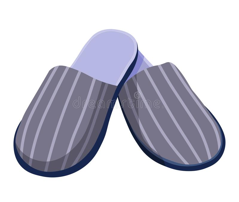 Male slippers, home shoes or footwear with striped print stock illustration