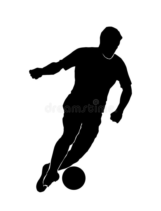 Free Male Soccer Silhouette. Male Football Player Royalty Free Stock Photography - 215110387