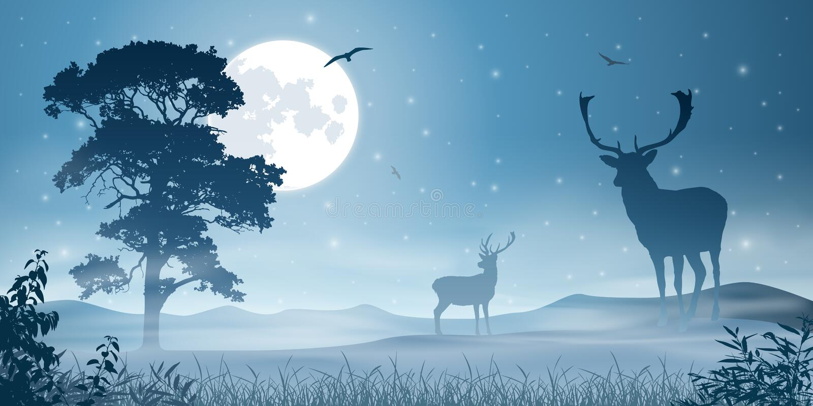 Male Stag Deer vector illustration