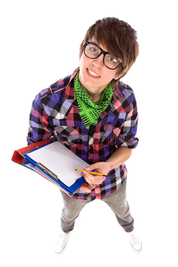 Download Male student stock photo. Image of standing, jeans, people - 18865092