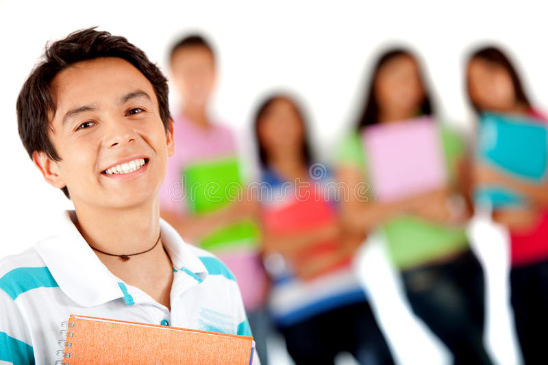 Download Male student smiling stock image. Image of college, learn - 18792071