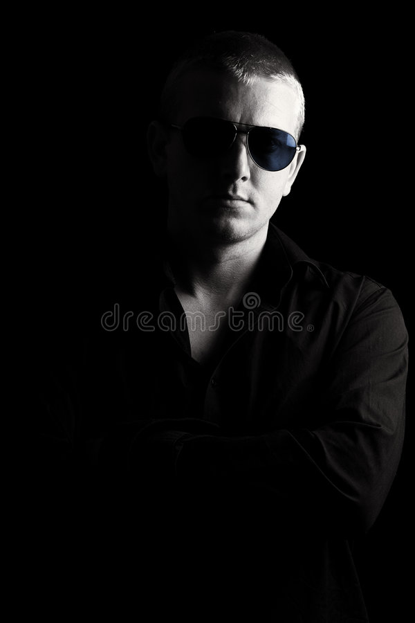 Download Male with Sunglasses stock photo. Image of crossed, male - 5622586