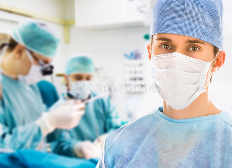 Male surgeon in operation room royalty free stock image