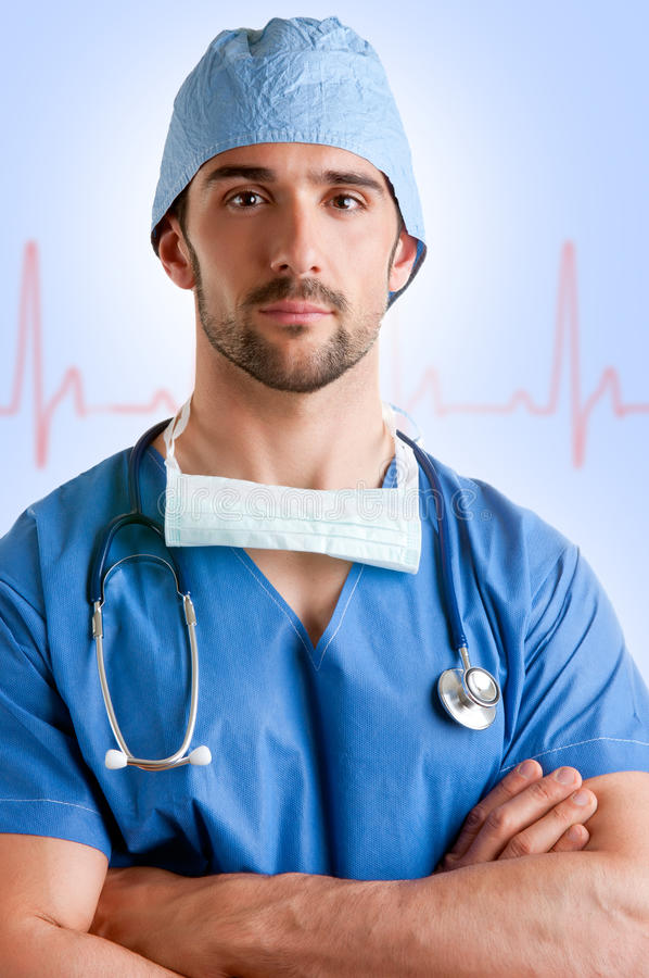 Download Male Surgeon stock image. Image of caucasian, cure, concentrate - 31197511