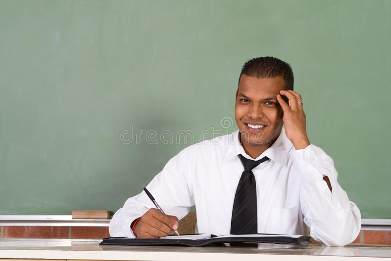Male teacher royalty free stock photos