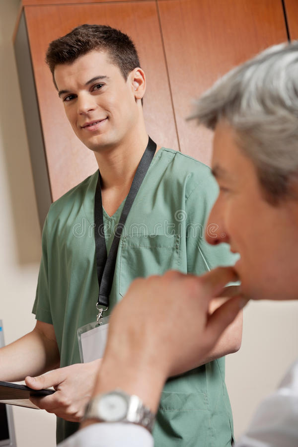Male Technician With Doctor stock photography