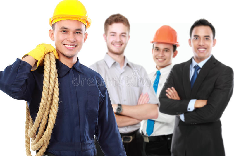 Male technician or engineer royalty free stock photography