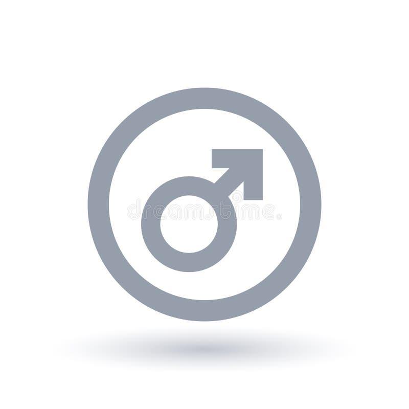 male tecken Manligt symbol Genussymbol stock illustrationer