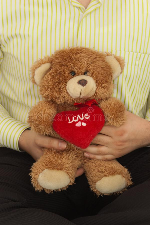 Download Male with teddybear stock photo. Image of valentine, waithing - 7971080