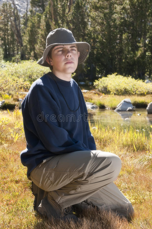 Download Male Teenager In Countryside Stock Image - Image: 16236381