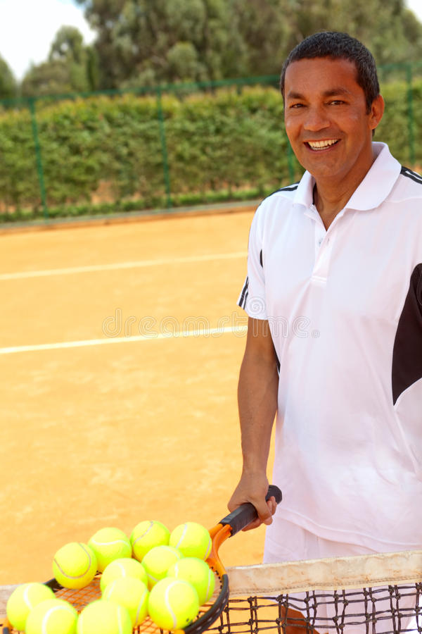 Download Male tennis player stock photo. Image of happy, lifestyle - 23051830