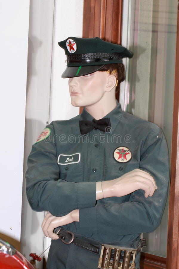 Male Texaco mannequin royalty free stock photography