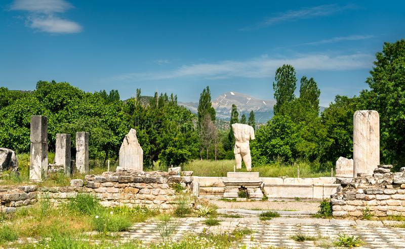 Male torso statue at Aphrodisias in Turkey. Male torso statue at Aphrodisias, UNESCO world heritage in Turkey royalty free stock images