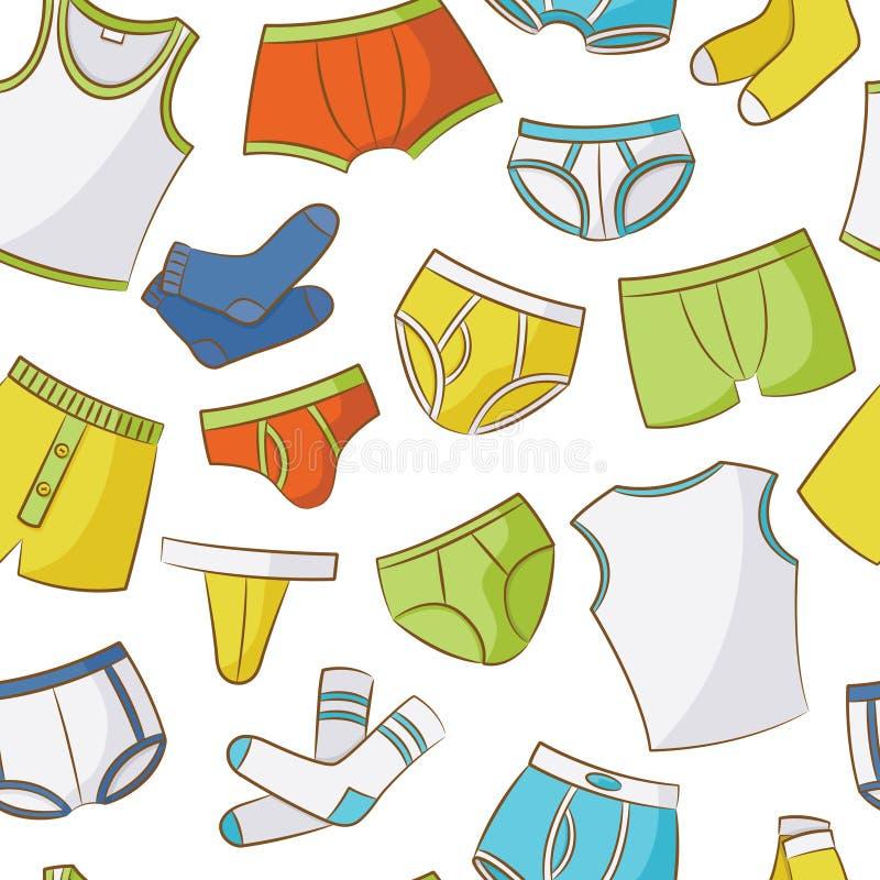 Male Underwear Doodle Pattern royalty free illustration