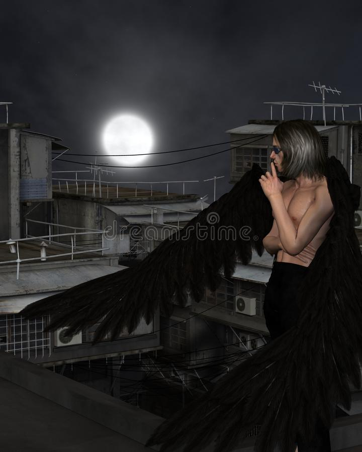 Free Male Urban Guardian Angel, Standing Royalty Free Stock Photography - 58171987