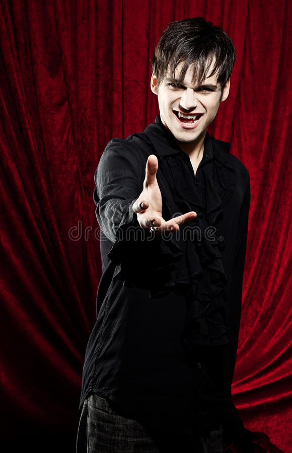 Male vampire reaching for you