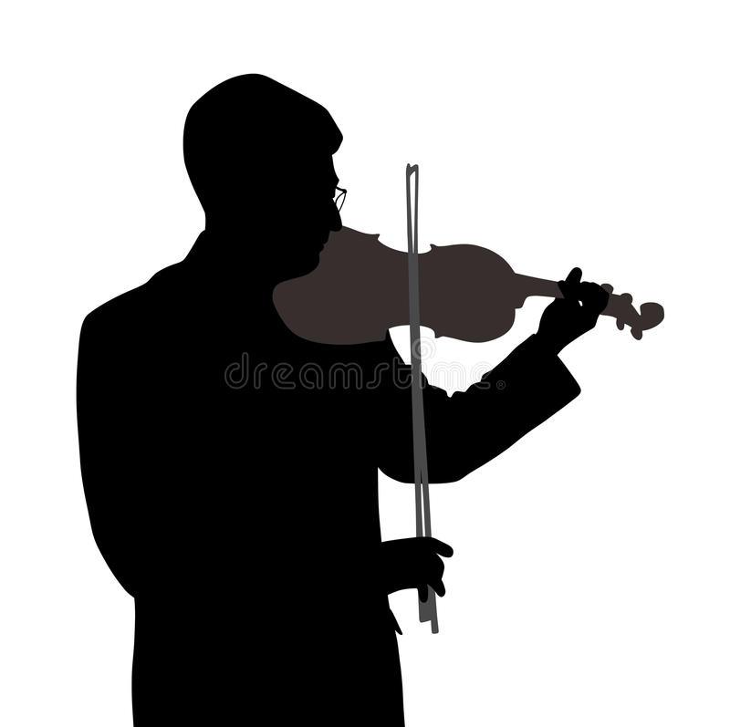 Male violinist. Isolated on white background. EPS file available vector illustration