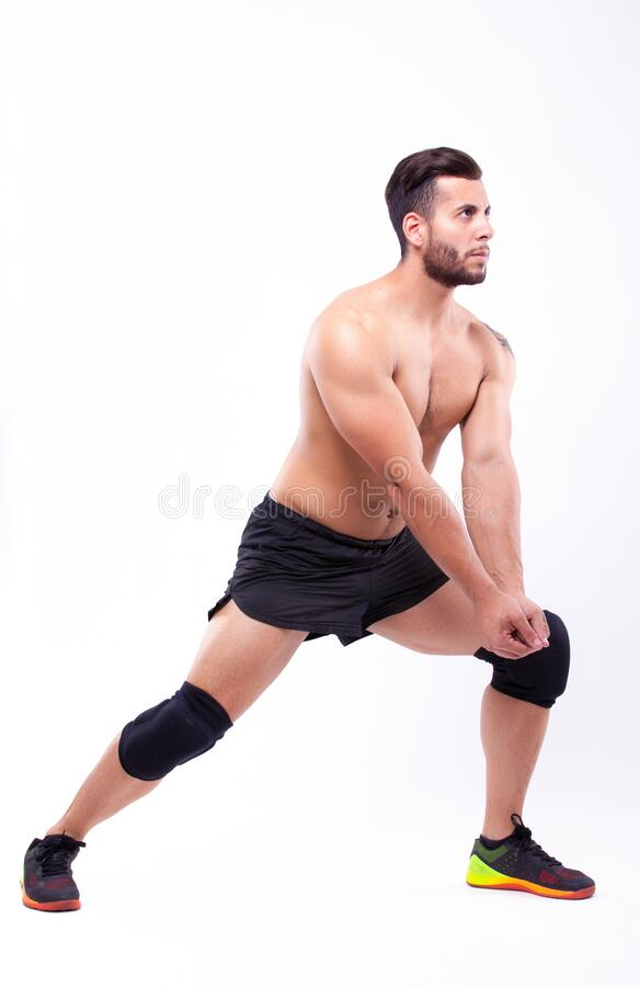 Male volleyball player royalty free stock photography
