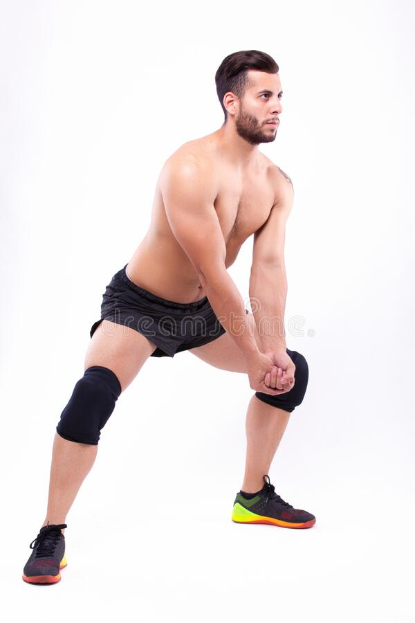 Male volleyball player royalty free stock photo